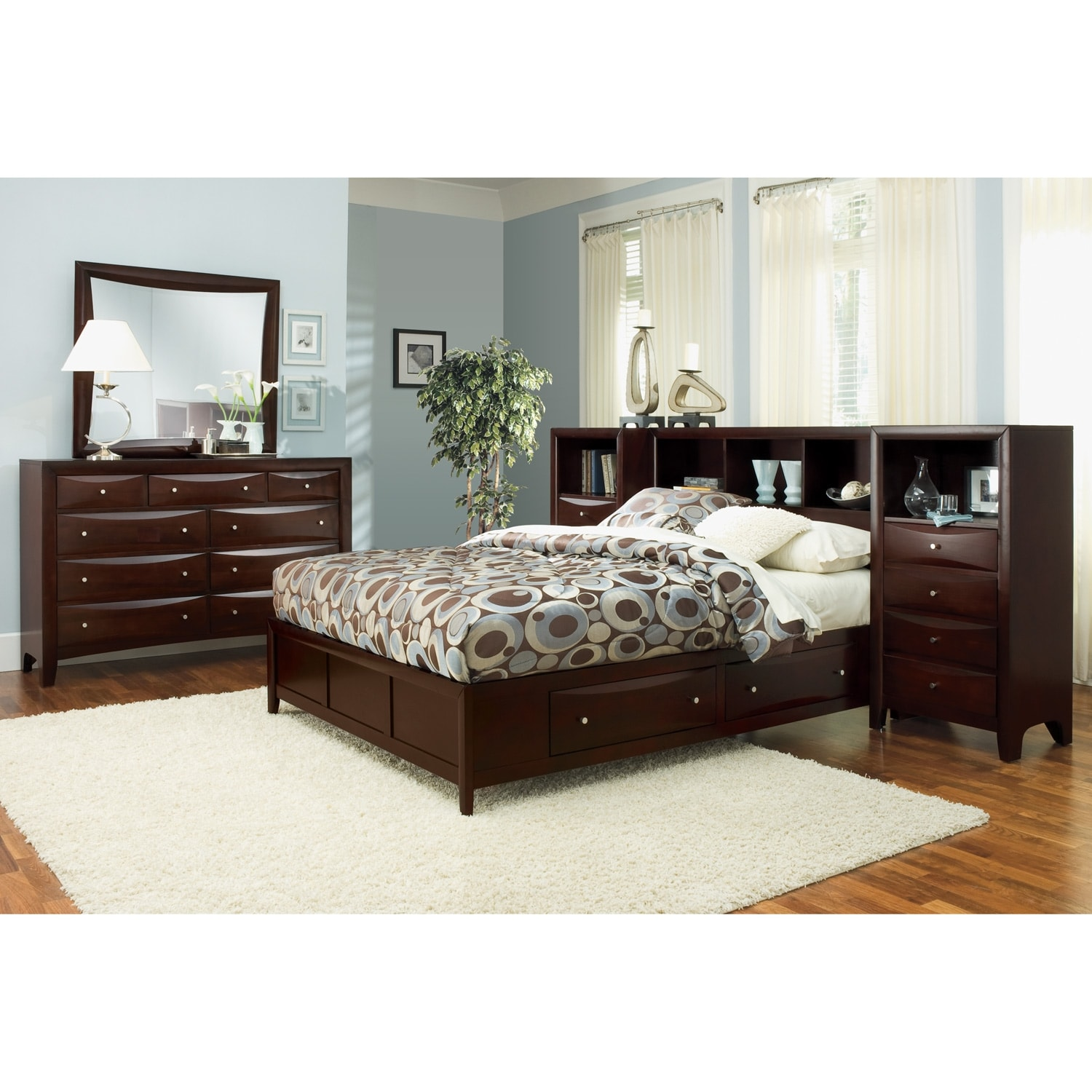 [Clarion 7 Pc. King Wall Bedroom]