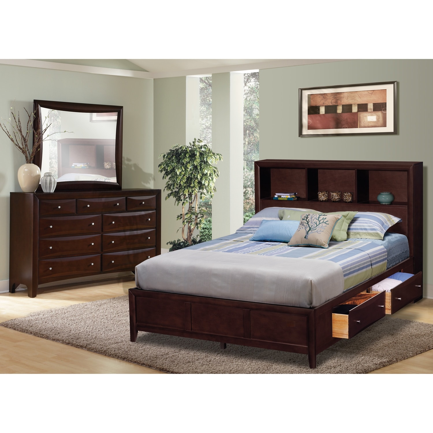[Clarion 5 Pc. King Wall Bedroom]
