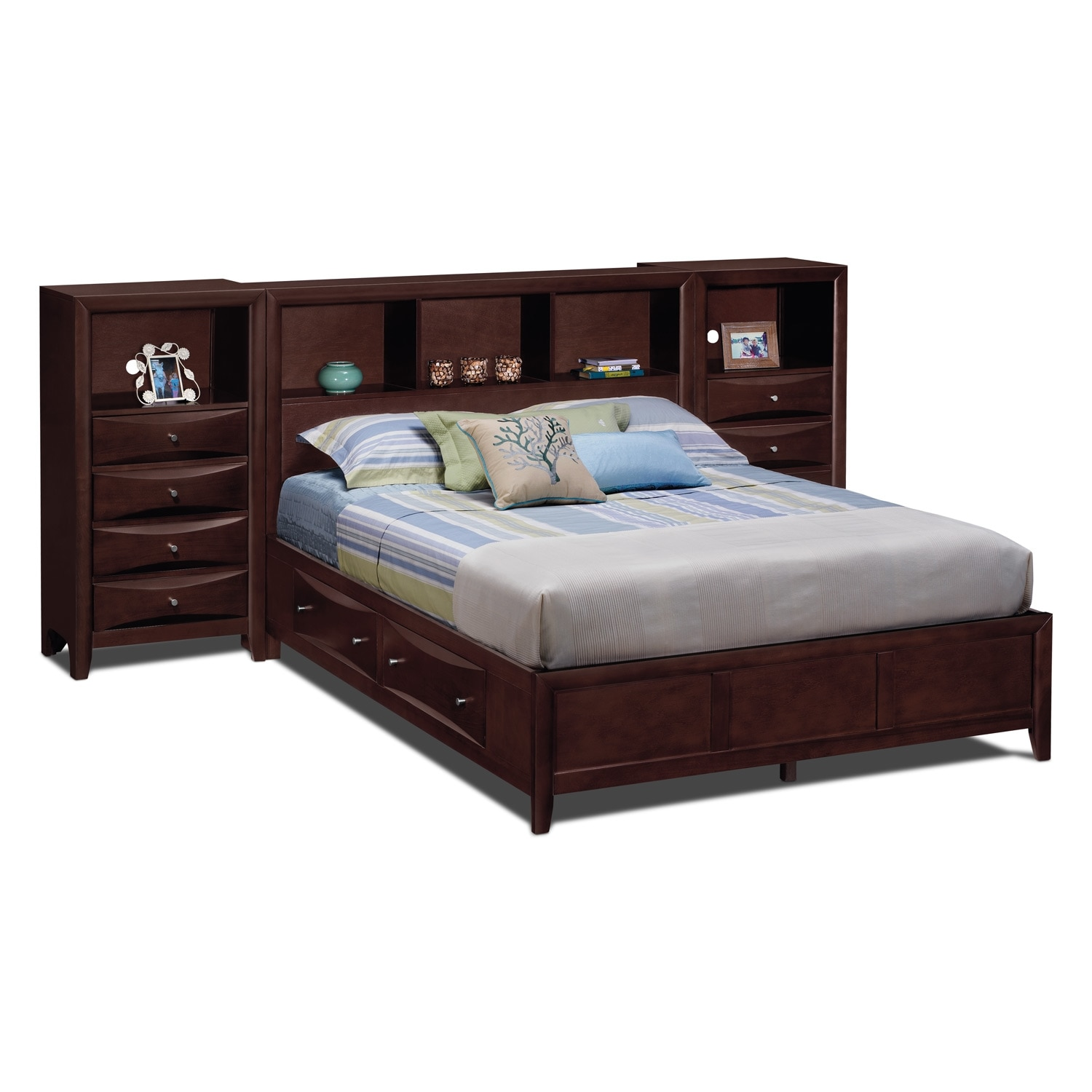 [Clarion Queen Wall Bed with Piers]