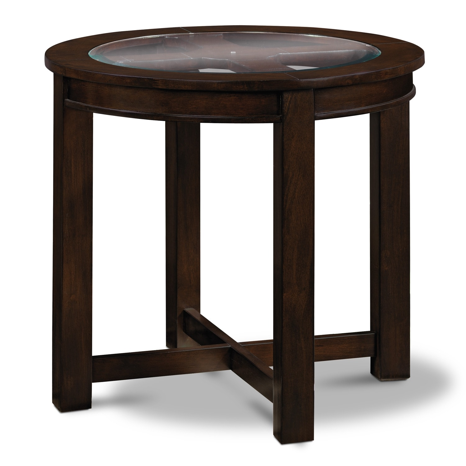 Four Corners End Table   Merlot