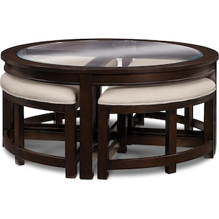 Four Corners Coffee Table with 4 Benches