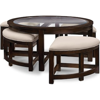 Coffee Tables Living Room Tables Value City Furniture And Mattresses - Foosball coffee table with stools
