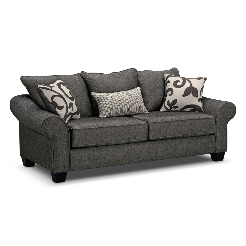 Memory Foam Sleeper Sofa: Colette Full Memory Foam Sleeper Sofa - Gray