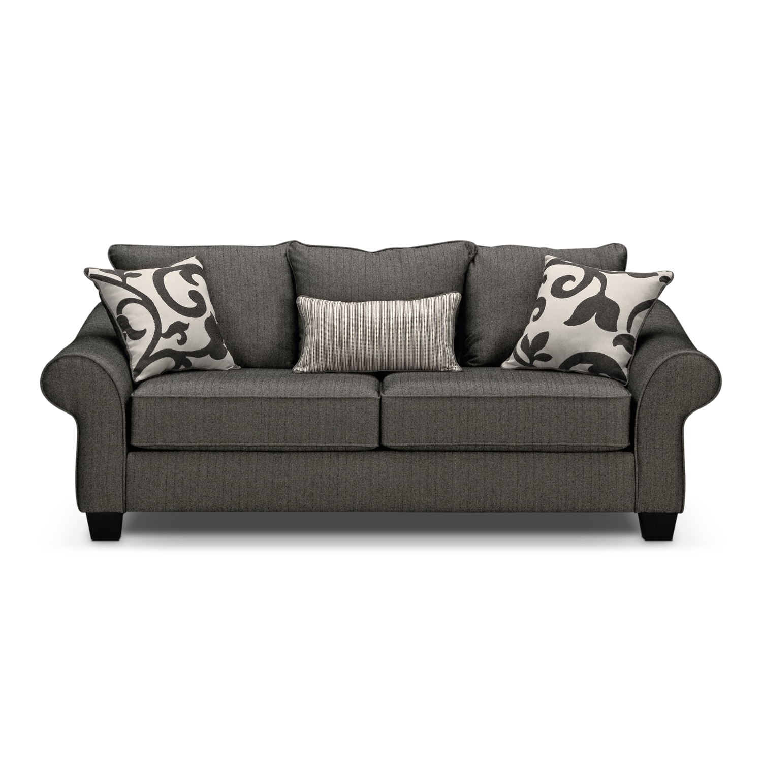 colette full memory foam sleeper sofa gray value city furniture