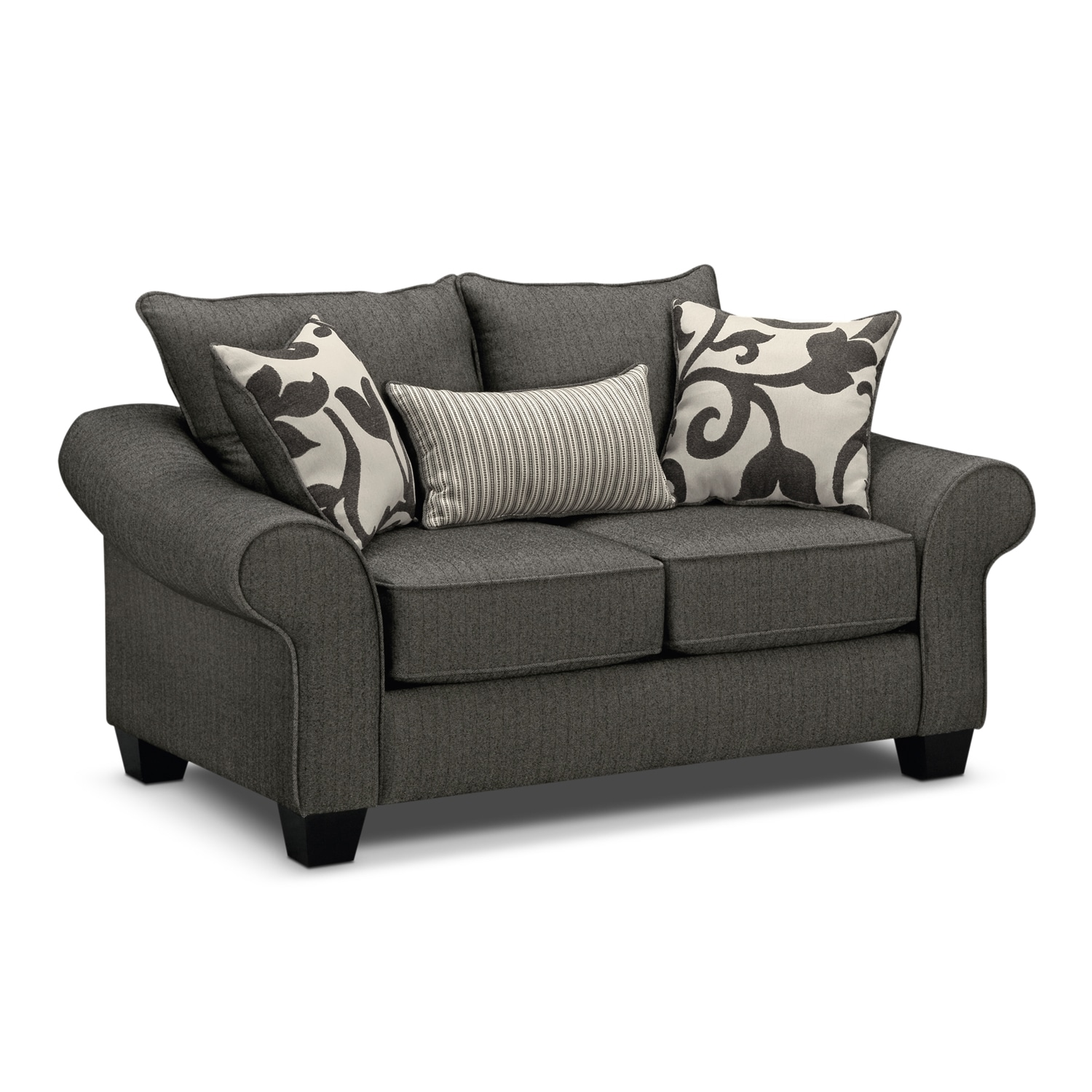 Living Room Furniture - Colette Loveseat - Gray