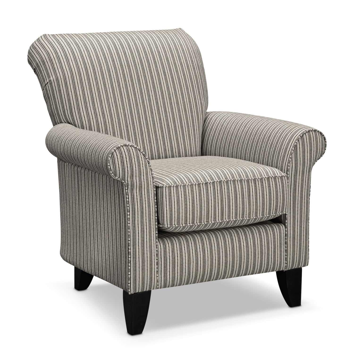 Colette Accent Chair Gray Stripe