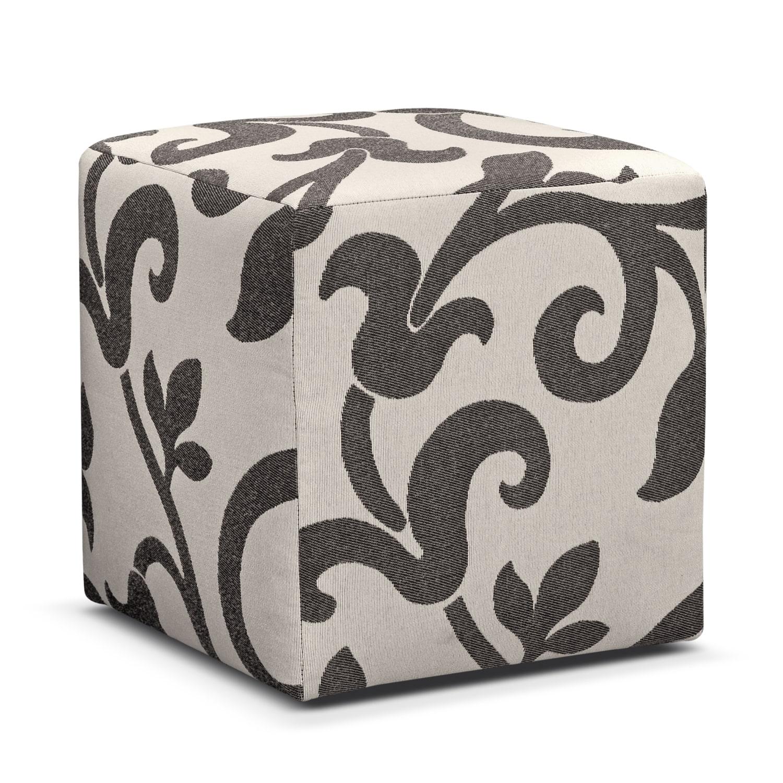 Colette Gray Cube Ottoman
