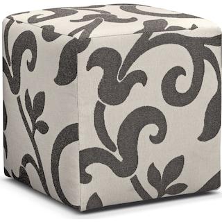 Colette Cube Ottoman - Gray