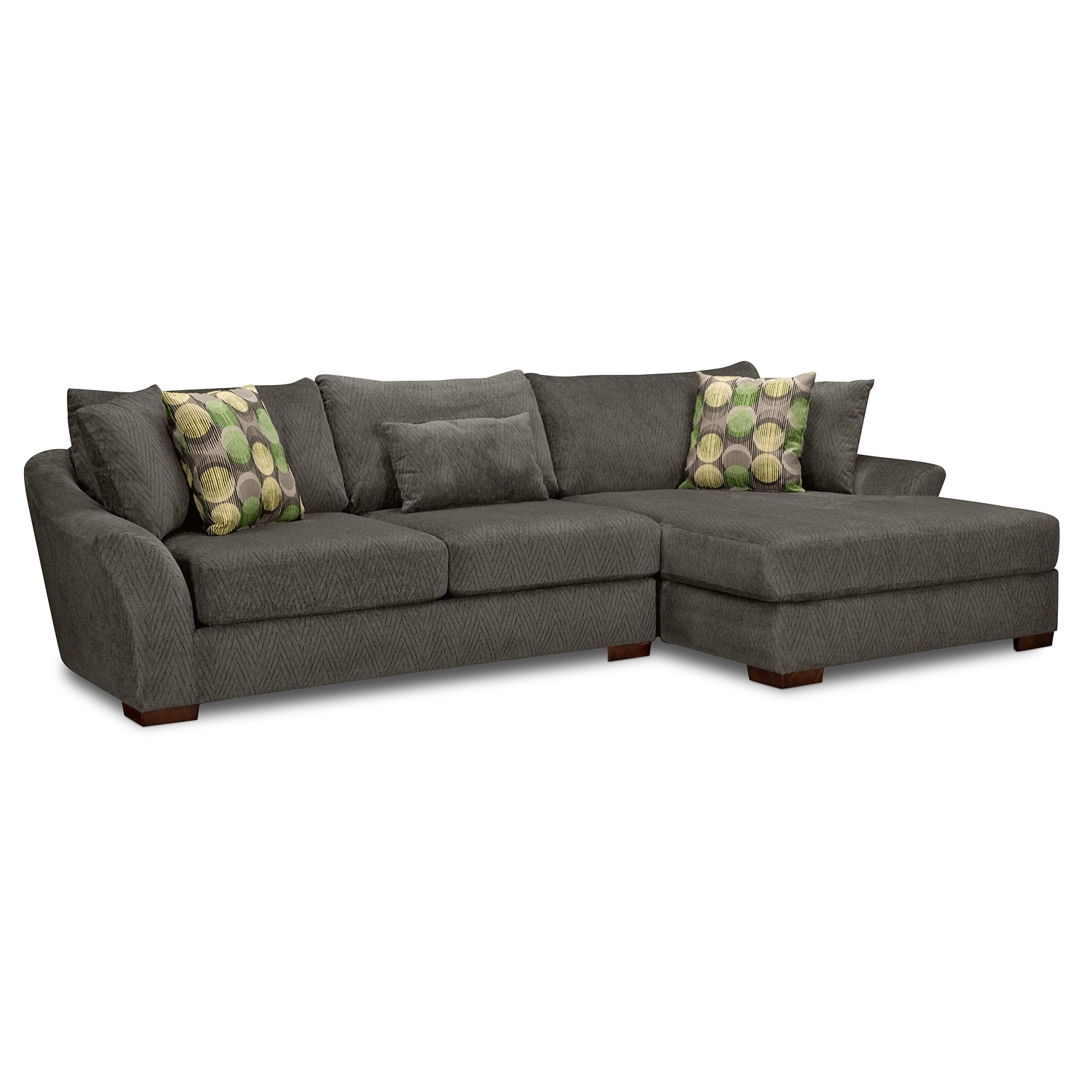Living Room Furniture - Oasis 2 Pc. Sectional (Reverse)