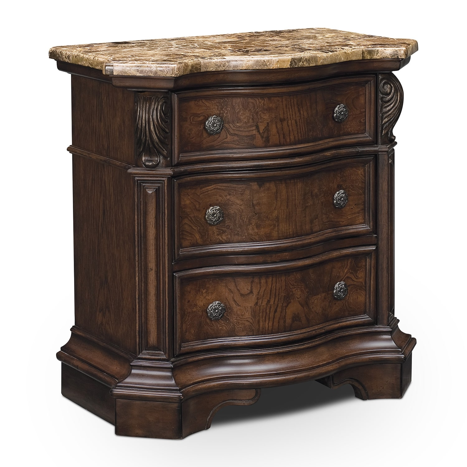 Bedroom Furniture - Monticello Pecan Nightstand