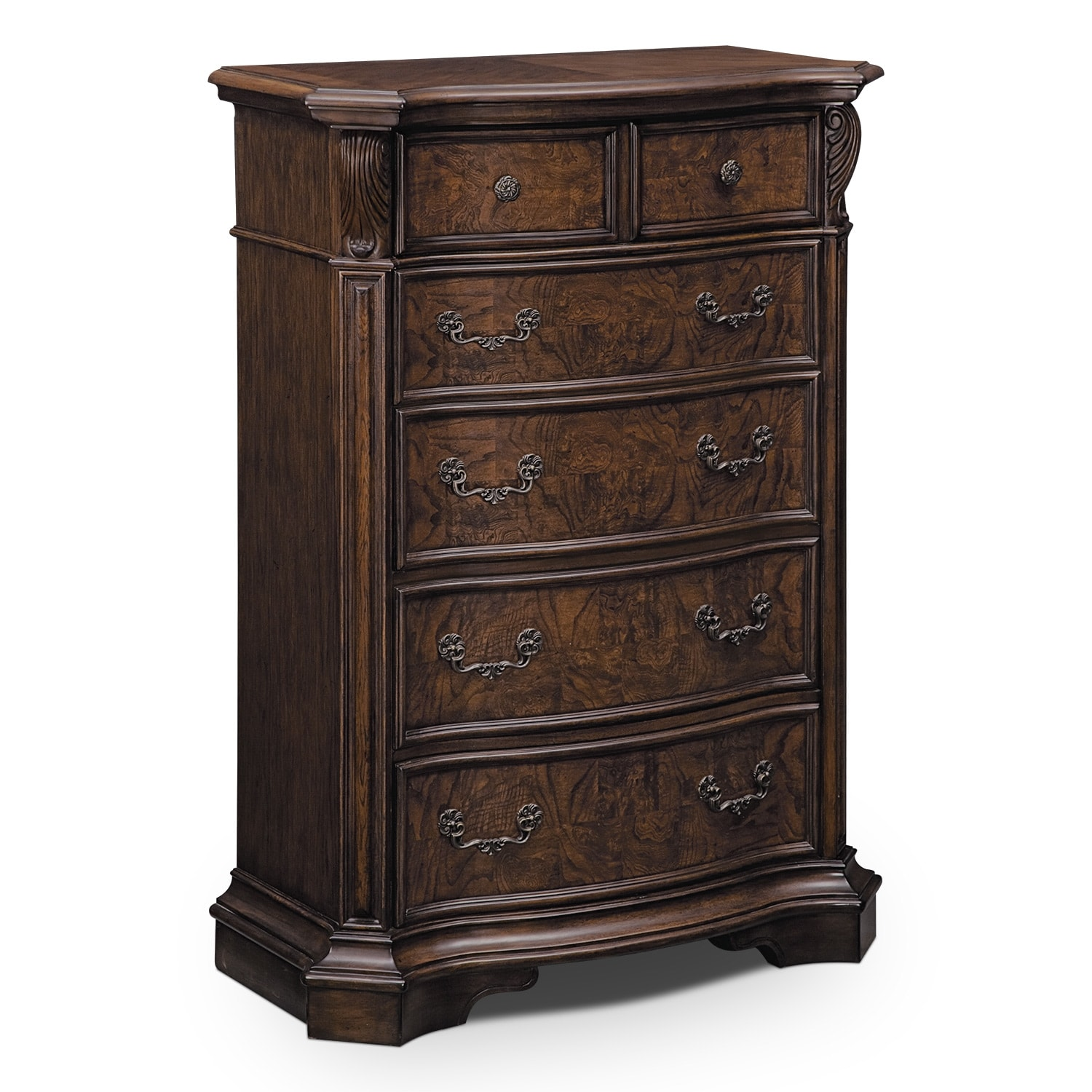 Bedroom Furniture - Monticello Chest - Pecan