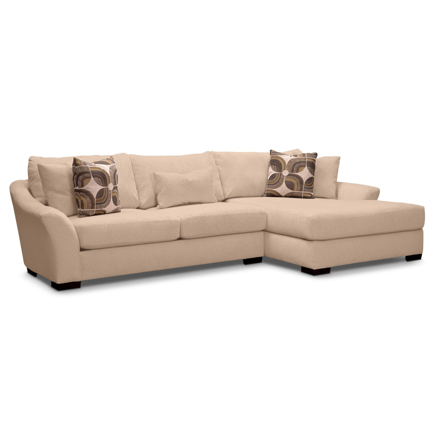 Living Room Furniture - Oasis II 2 Pc. Sectional (Reverse)