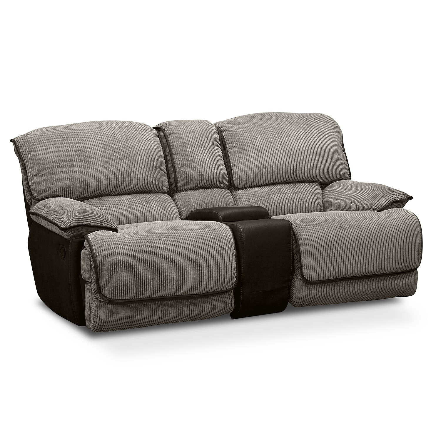 Beige Couch Cover With Center Center Console