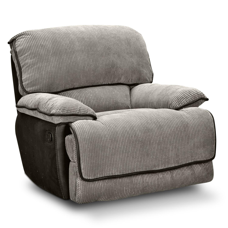Living Room Furniture - Laguna Glider Recliner - Steel