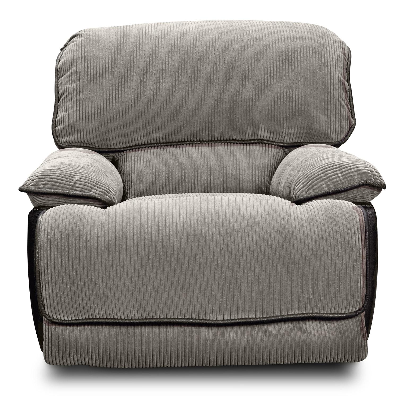 laguna glider recliner steel value city furniture and mattresses