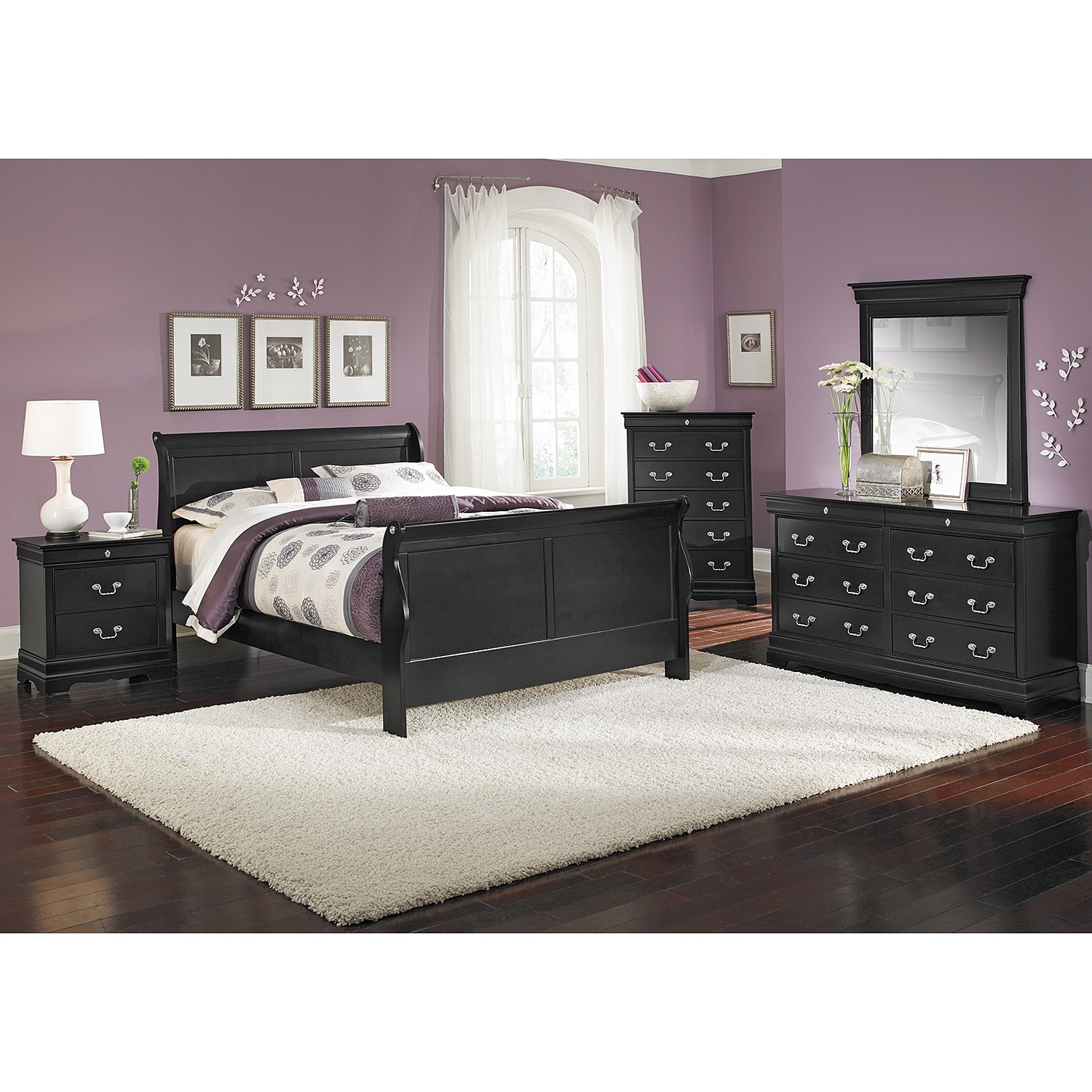 Neo Classic 7-Piece Queen Bedroom Set - Black