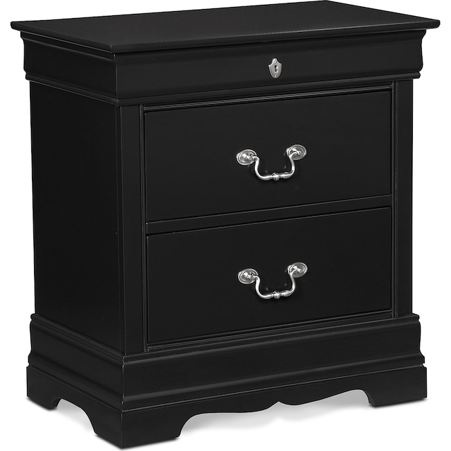 Bedroom Furniture - Neo Classic Nightstand - Black