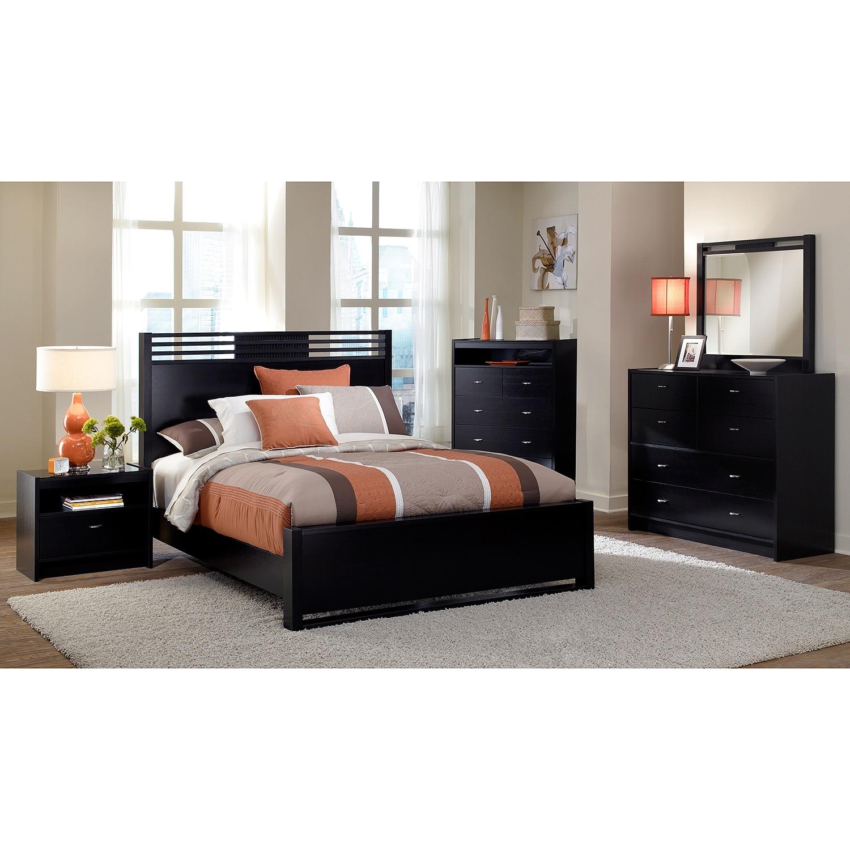 Bally Queen Bed Black