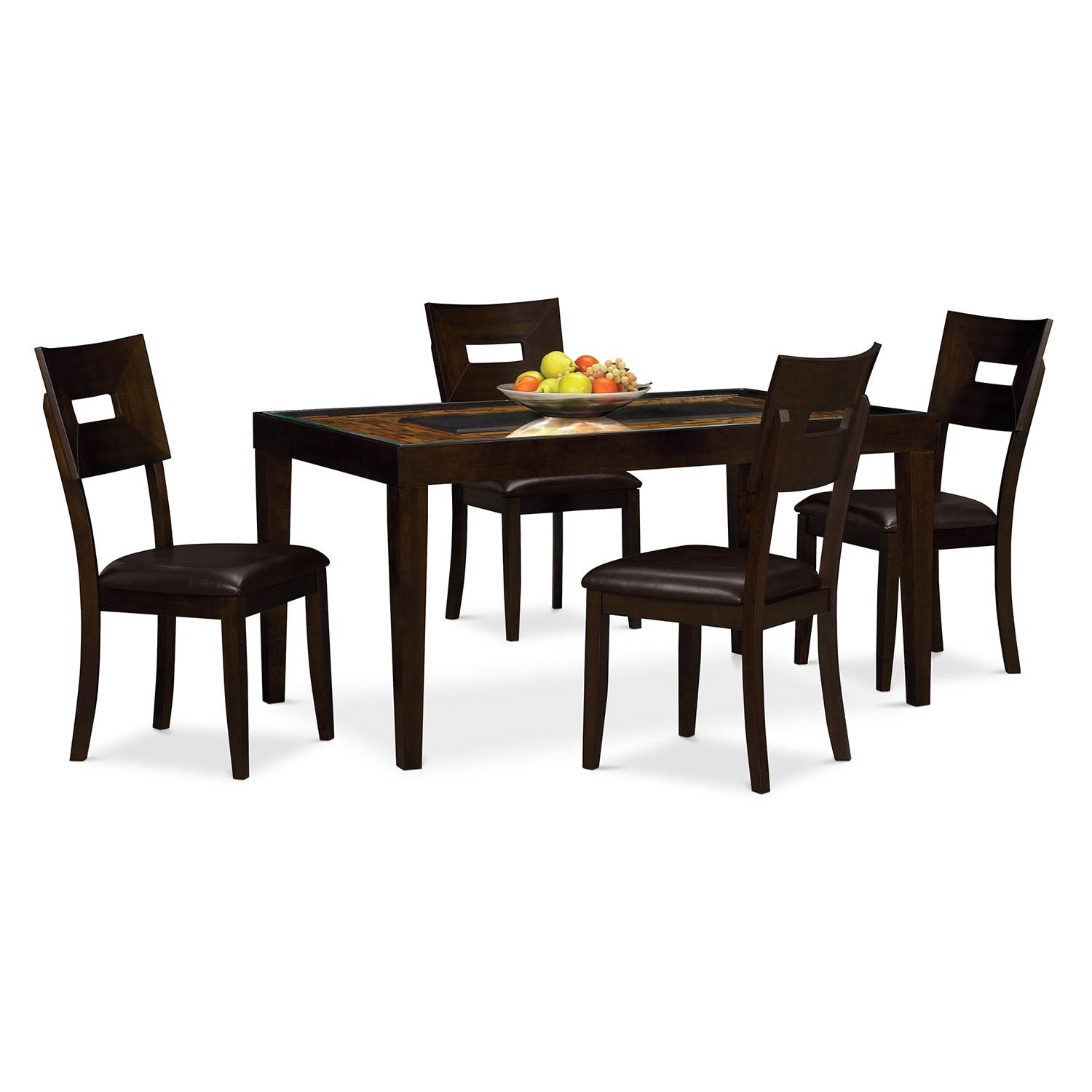 Dining Room Furniture - Cyprus 5 Pc. Dinette