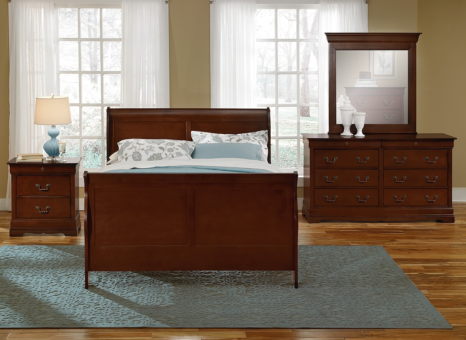 Neo Classic Youth 6 Piece Full Bedroom Set Cherry