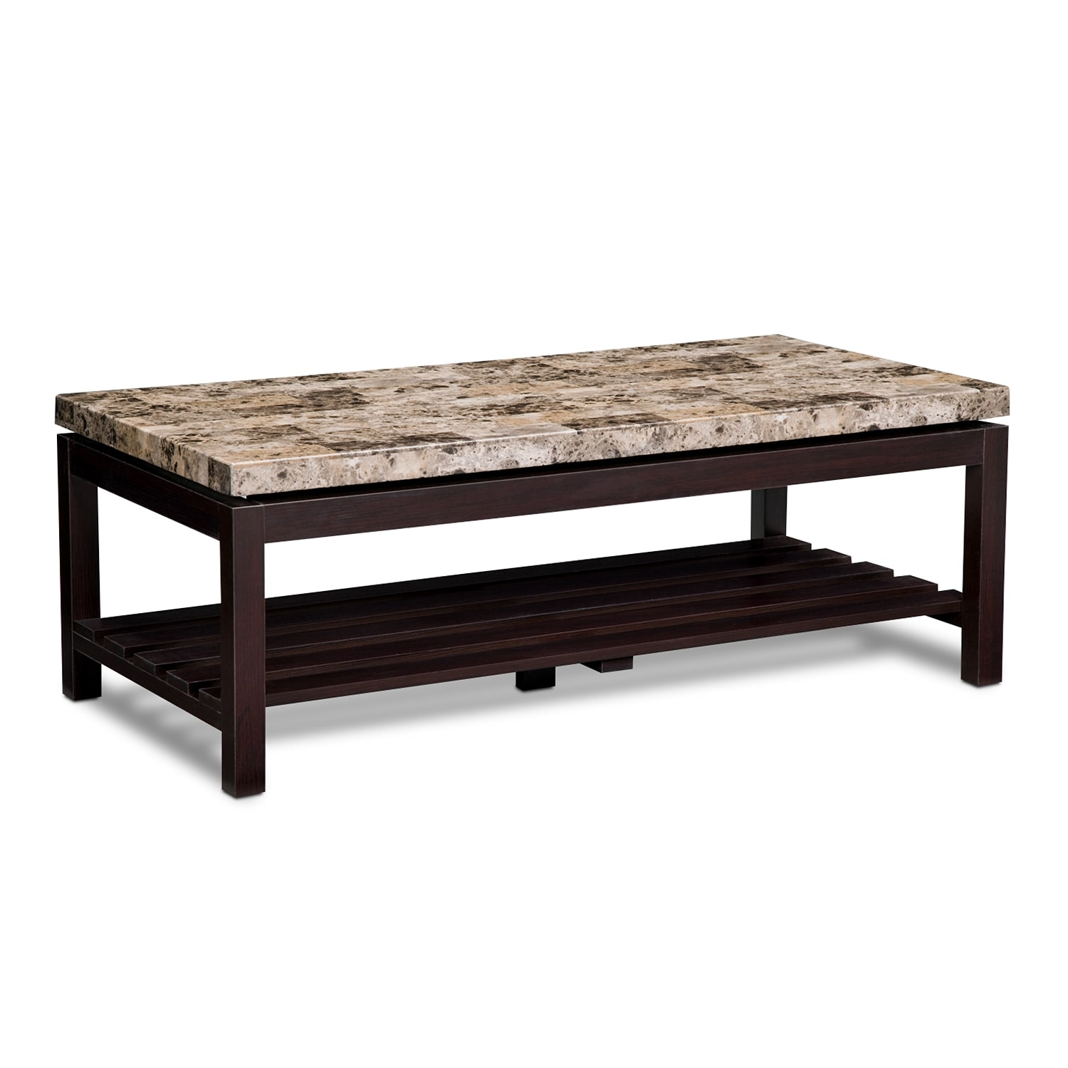 Accent and Occasional Furniture - Audra Cocktail Table - Merlot
