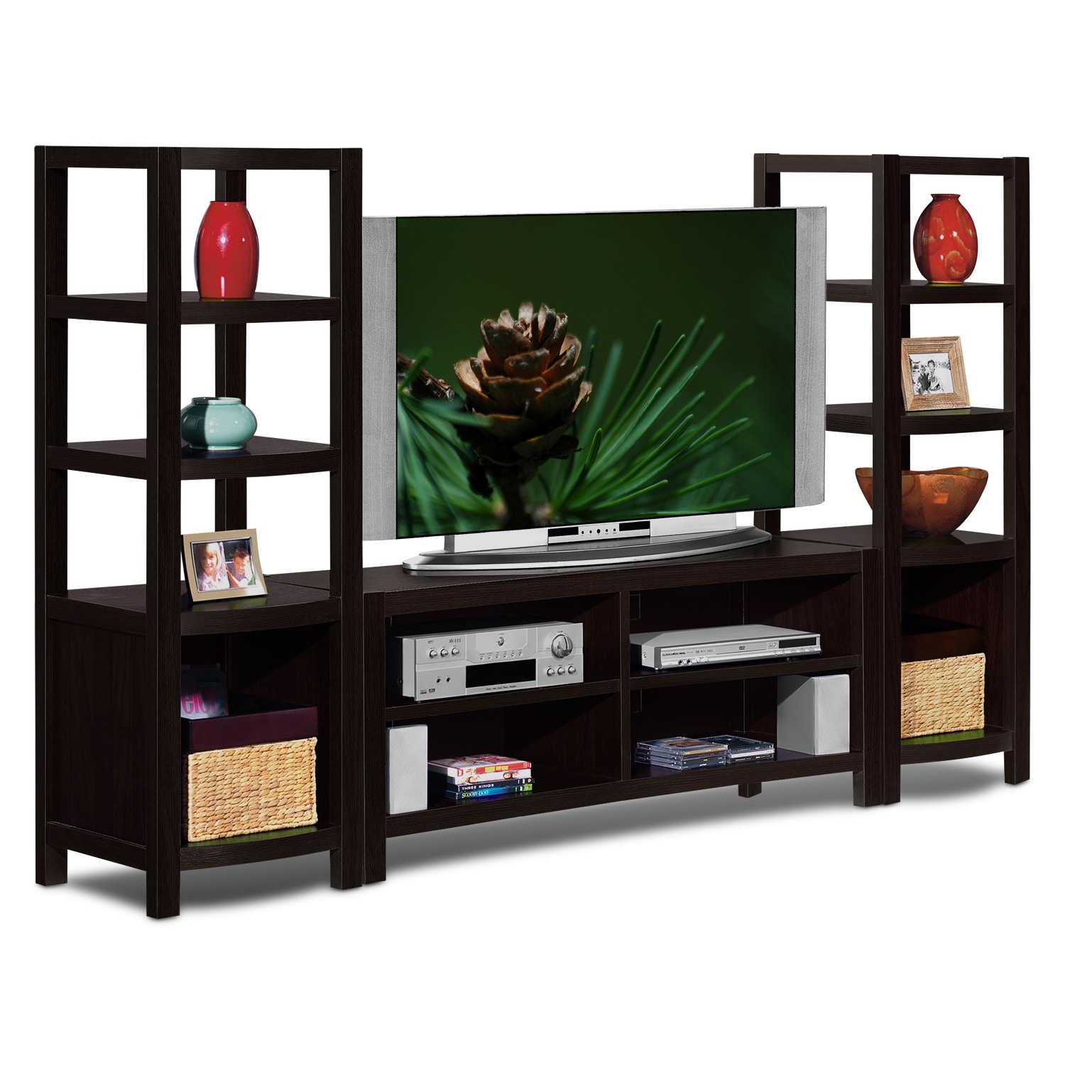 tv stands media centers storage cabinets value city. Black Bedroom Furniture Sets. Home Design Ideas