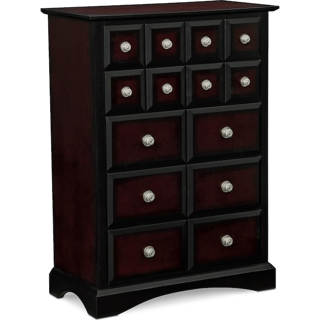 Winchester Master Suite: Winchester Chest - Black And Burnished Merlot