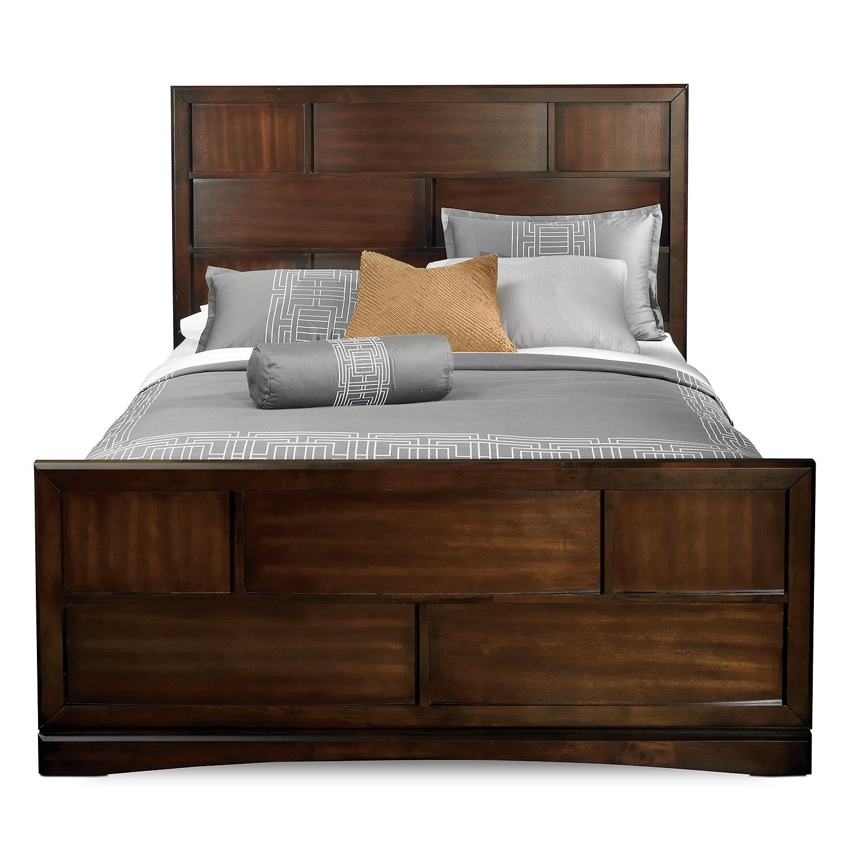 Toronto Queen Storage Bed Pecan