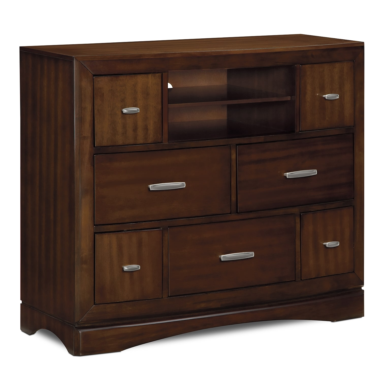 Tv Bedroom Furniture: Toronto Media Chest - Pecan