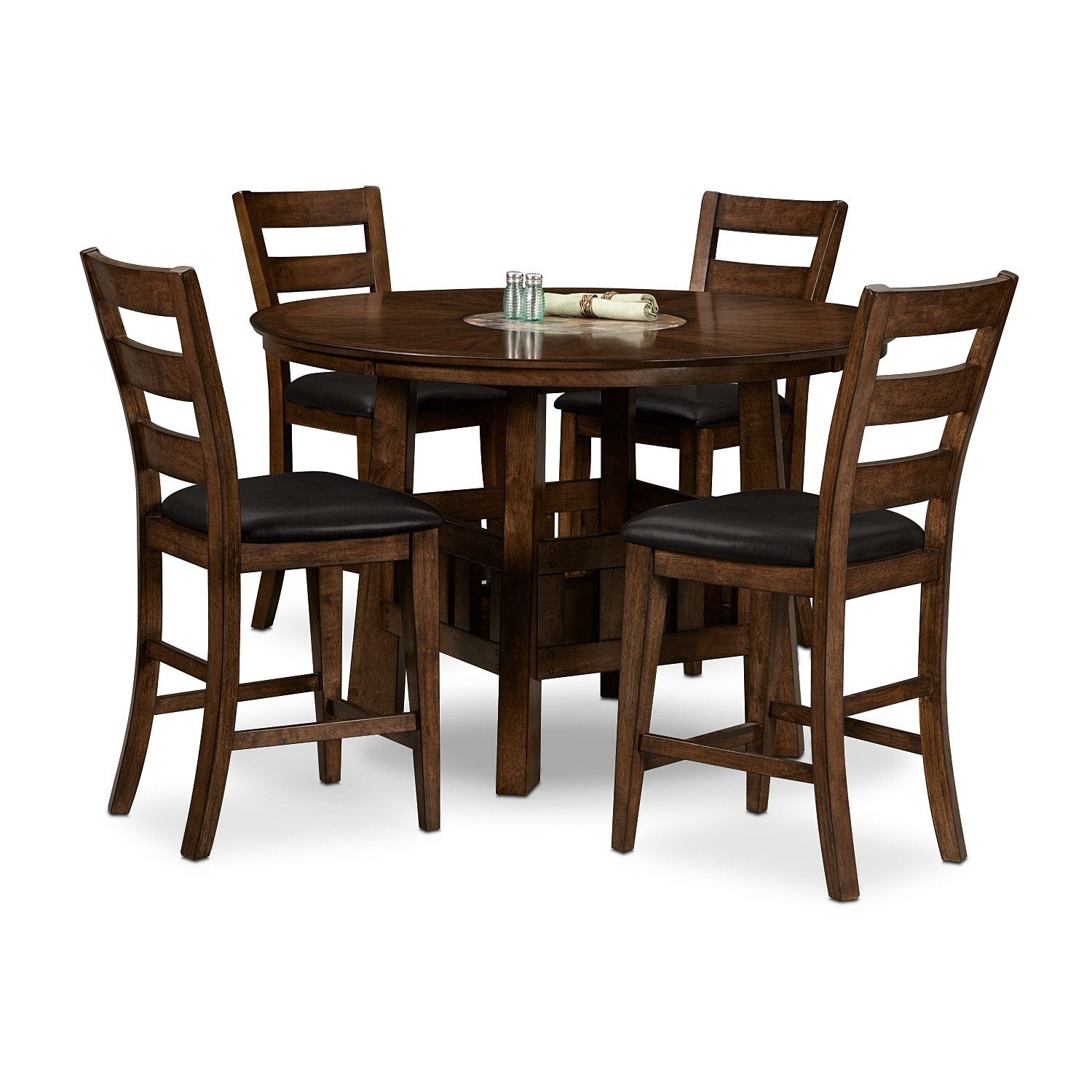 Dining Room Furniture - Harbor Pointe 5 Pc. Counter-Height Dinette