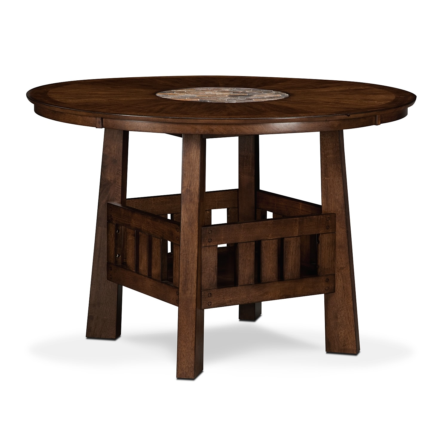 Dining Room Furniture - Harbor Pointe Counter-Height Table - Oak