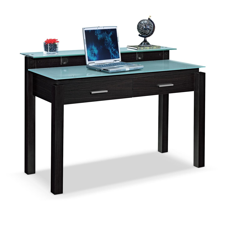 Home Office Furniture - Crescent Desk - Merlot