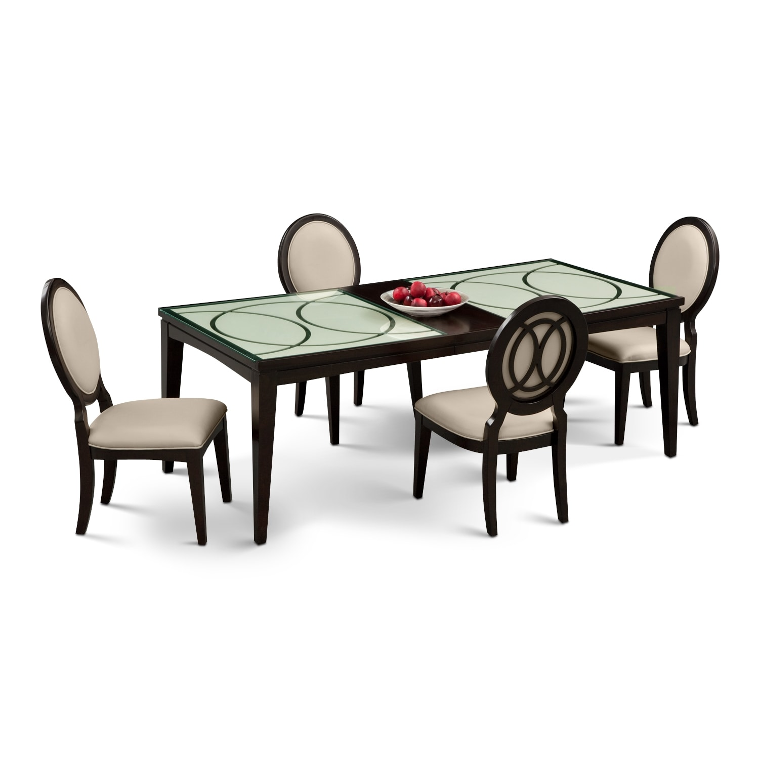 cosmo table and 4 chairs merlot by najarian