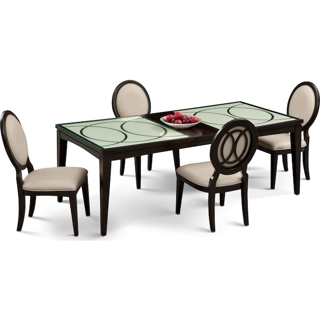 Cosmo Table And 4 Chairs - Merlot | Value City Furniture