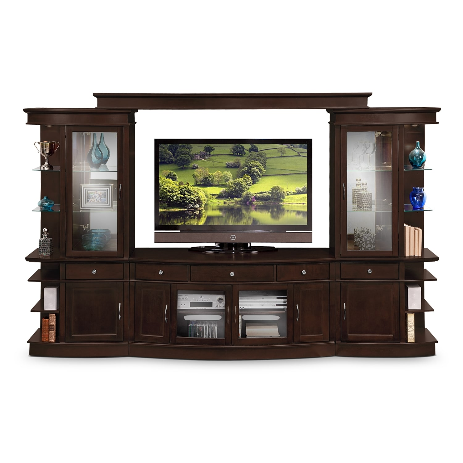 Entertainment Furniture - Urban Manor 4 Pc. Entertainment Wall Unit