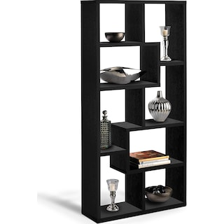Obsidian Bookcase - Black