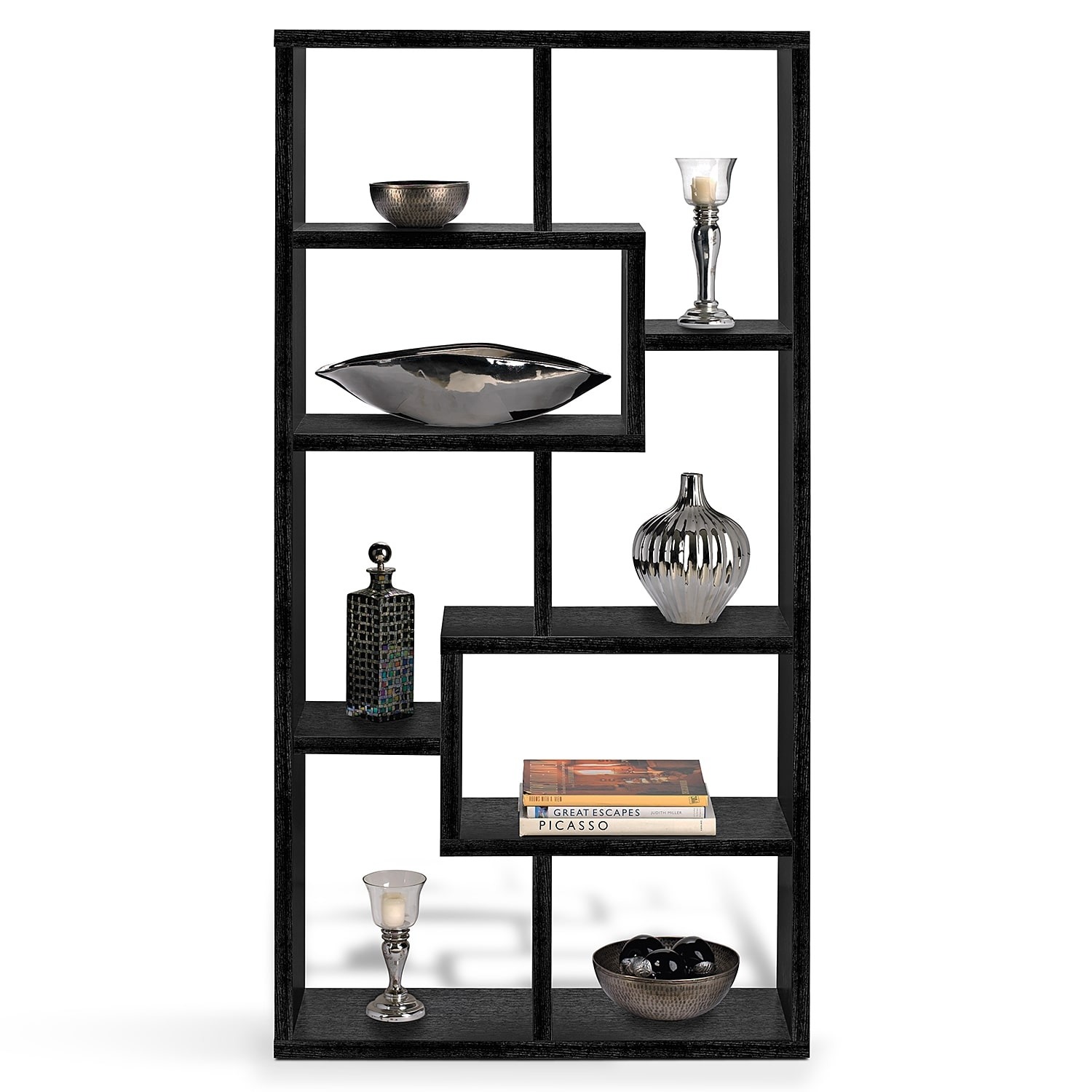 Obsidian Bookcase Black Value City Furniture And Mattresses