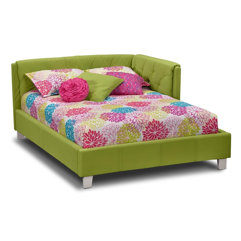 Kids Bedroom Set Clearance: Jordan Full Corner Bed - Green