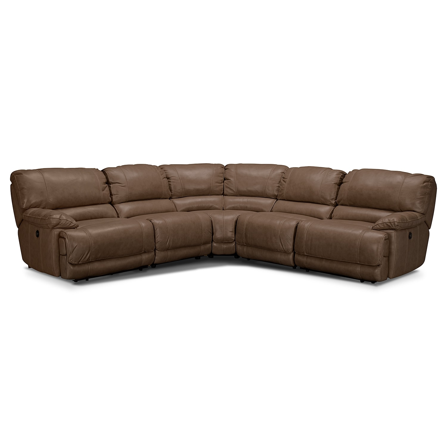 Living Room Furniture - St. Malo 5-Piece Right-Facing Power Reclining Sectional - Taupe