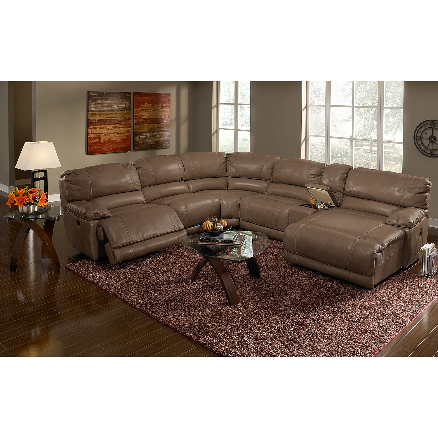 St Malo Ii 6 Pc Power Reclining Sectional Value City