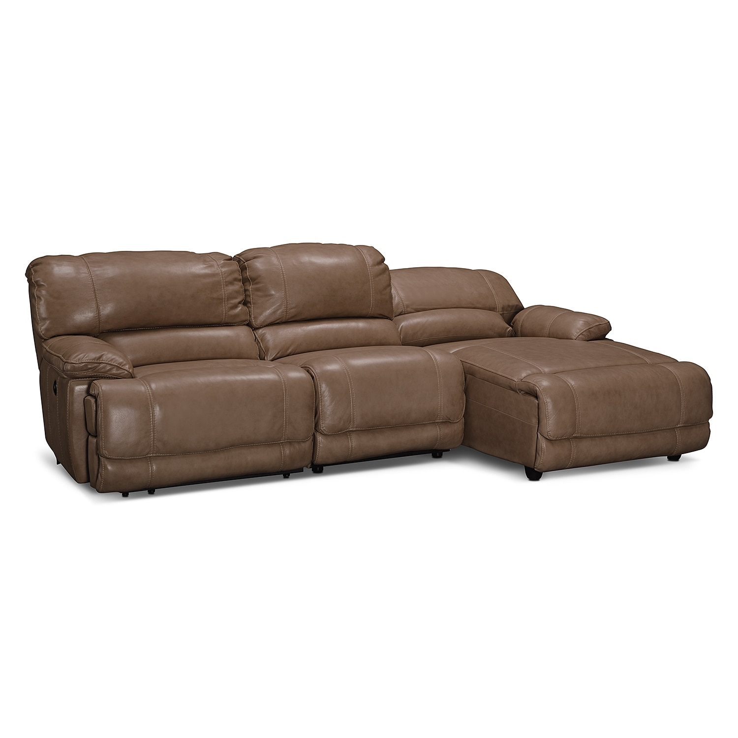 st malo 3 piece power reclining sectional with right. Black Bedroom Furniture Sets. Home Design Ideas