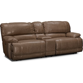 St. Malo Power Reclining Sofa with Console - Taupe