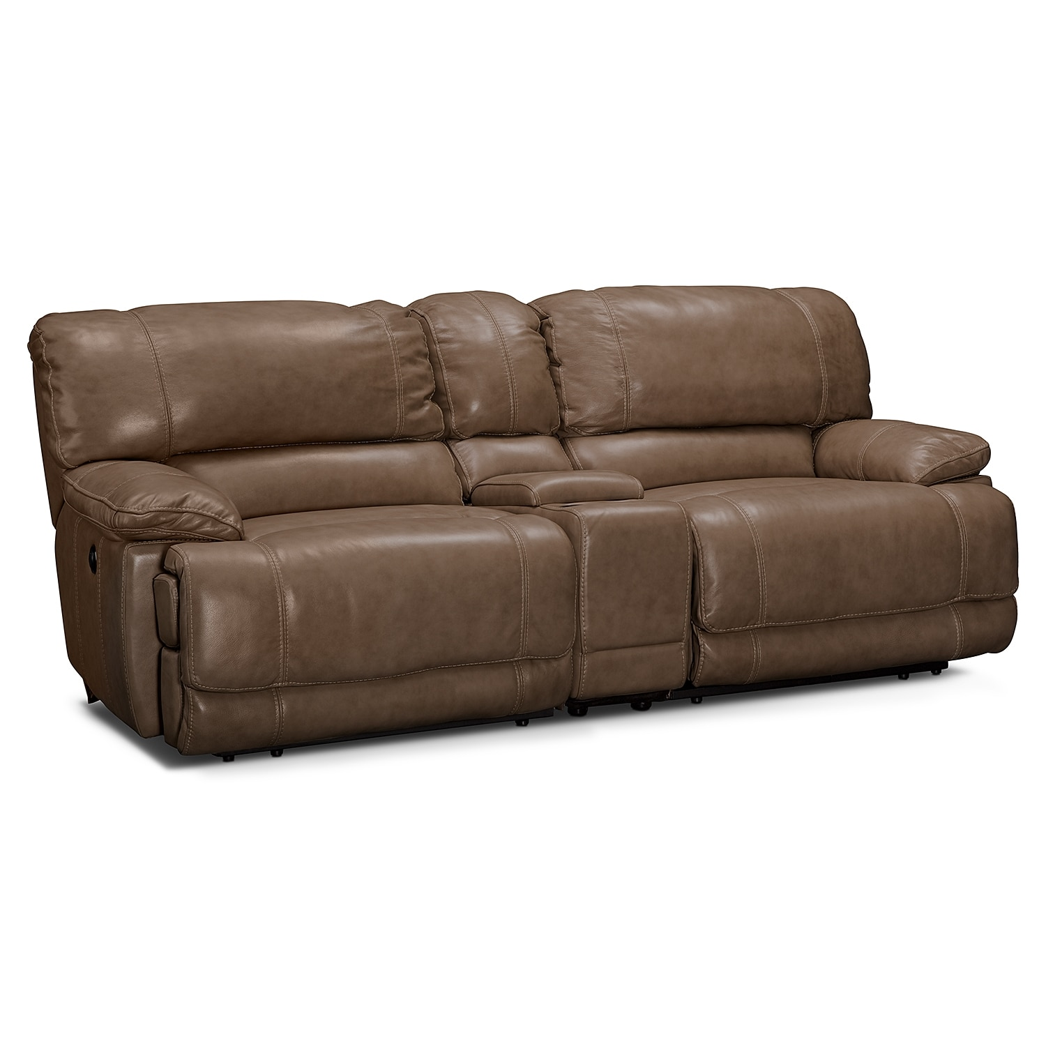 St. Malo Power Reclining Sofa With Console   Taupe