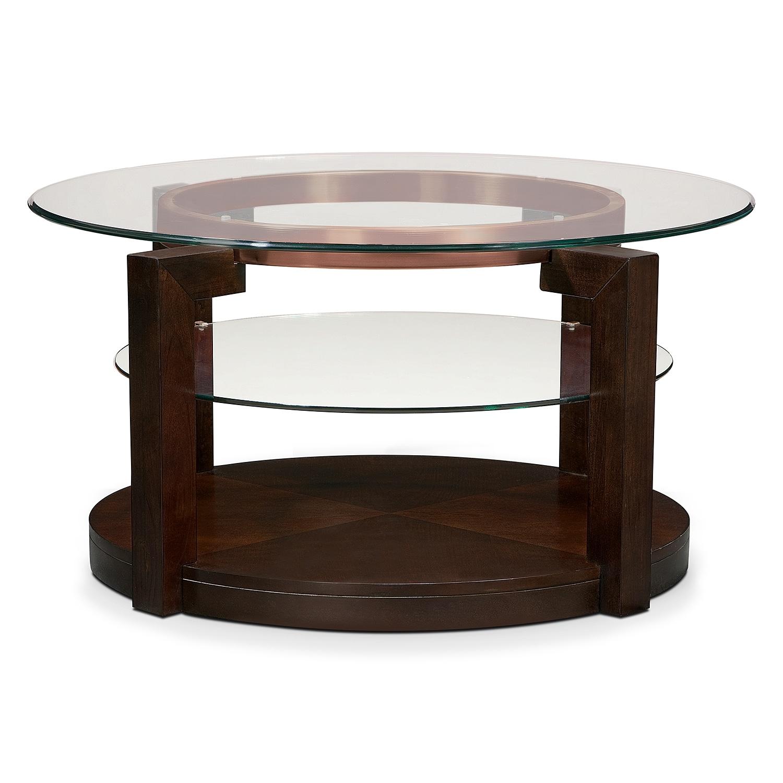 Auburn Cocktail Table Merlot Value City Furniture