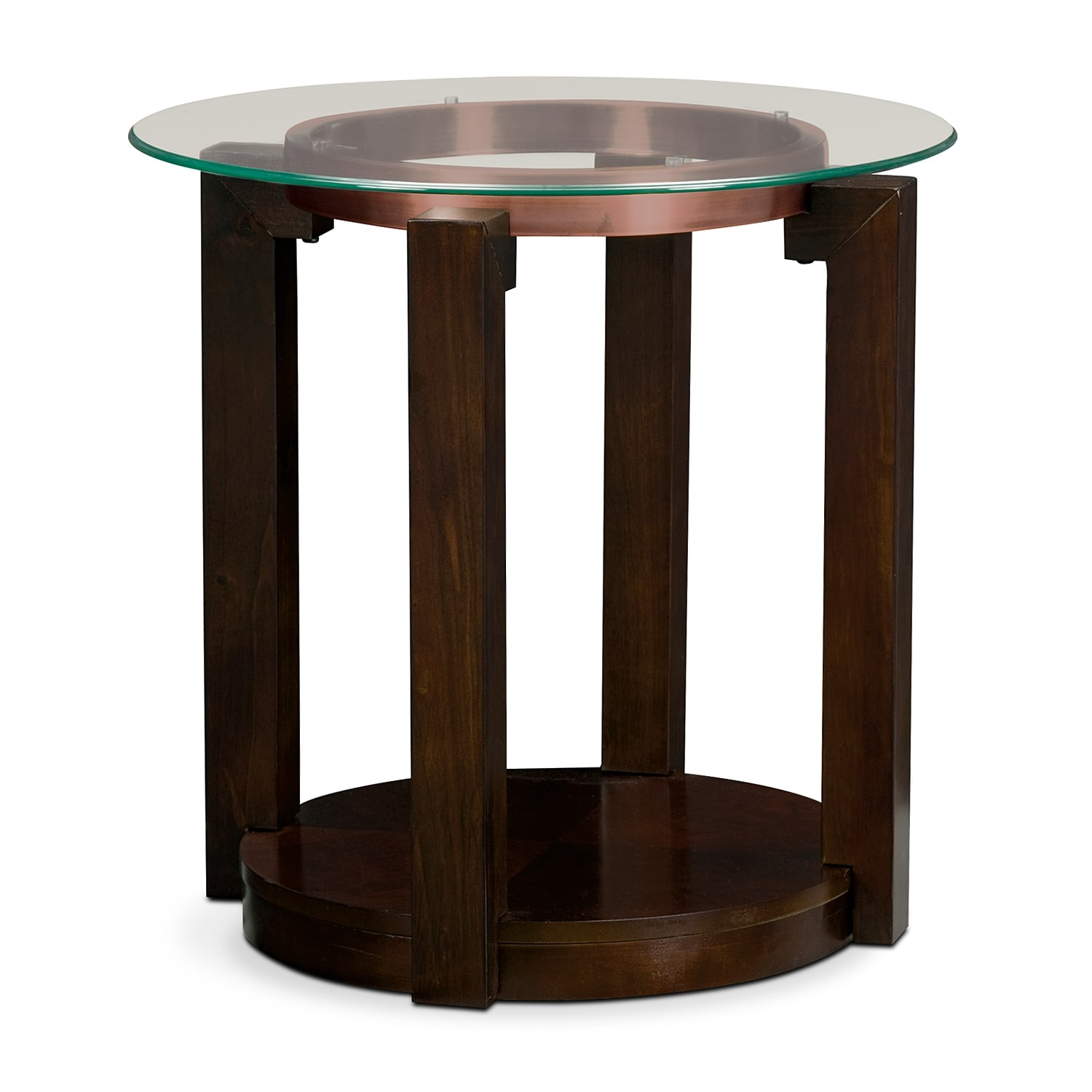 Auburn End Table   Merlot