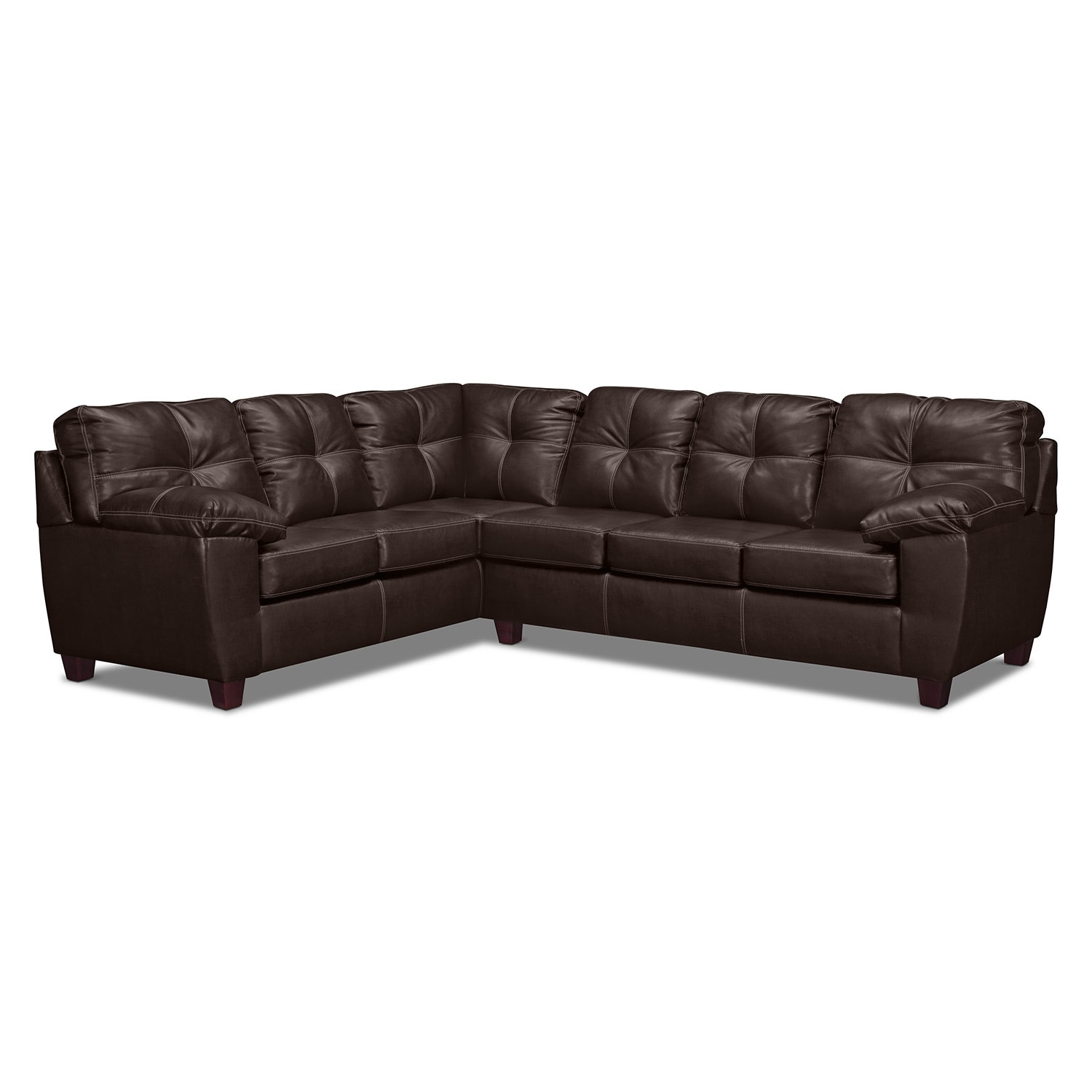 Ricardo 2 Piece Innerspring Sleeper Sectional With Left Facing Sofa Brown Value City