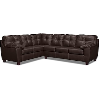 Ricardo 2-Piece Innerspring Sleeper Sectional with Left-Facing Sofa - Brown