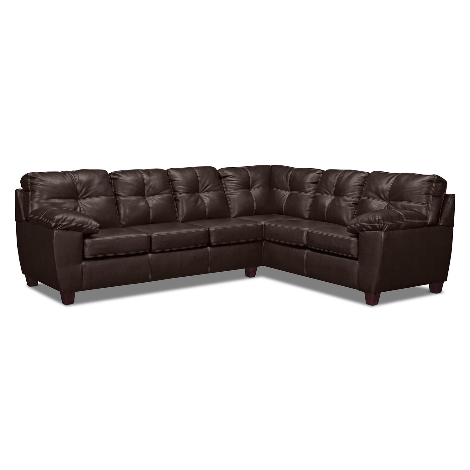 Living Room Furniture - Rialto Brown 2-Pc. Sectional with Right-Facing Corner Sofa