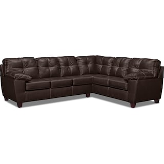 Ricardo 2-Piece Innerspring Sleeper Sectional with Right-Facing Sofa - Brown