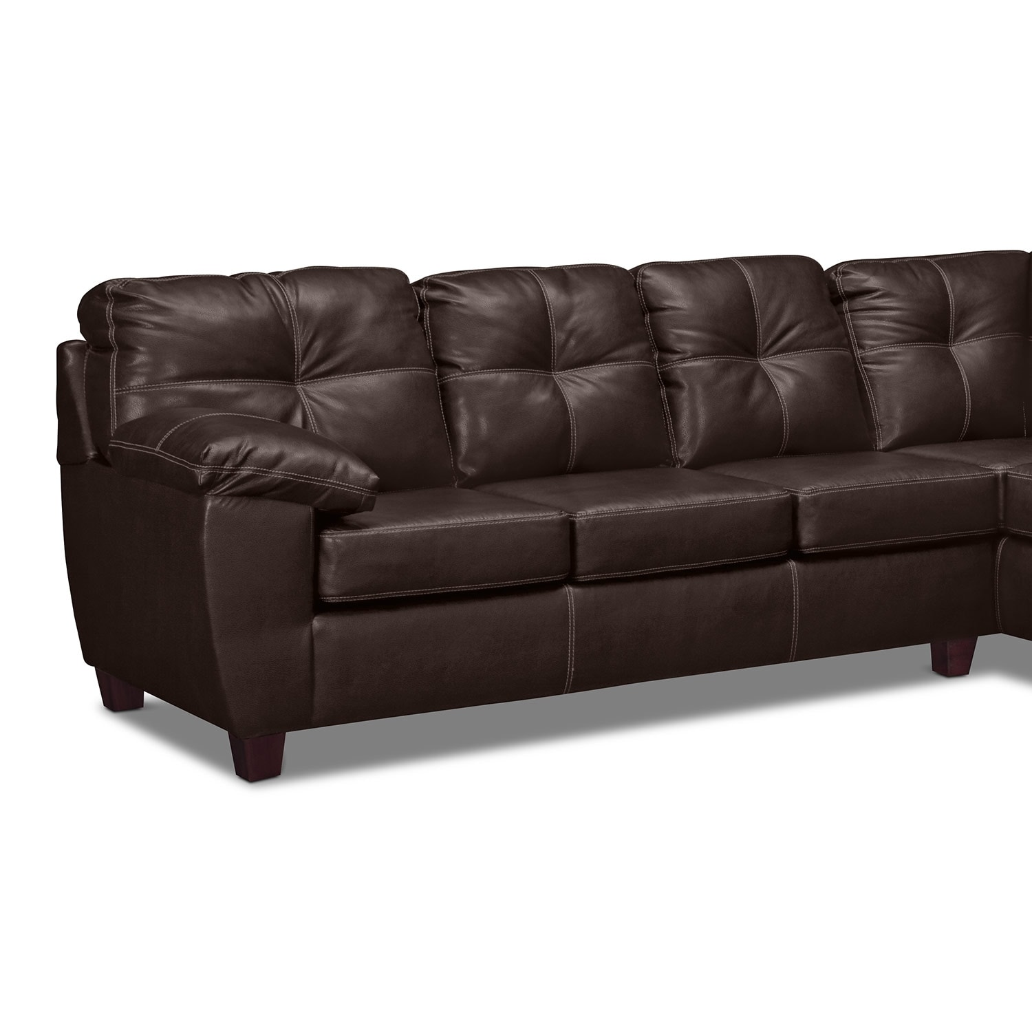Ricardo 2 Piece Sectional with Right Facing Sofa Brown